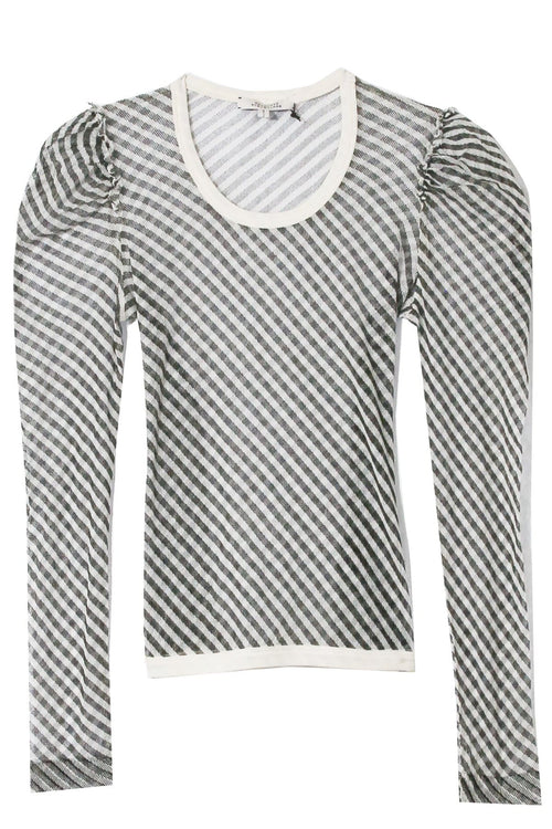 Transparent Coolness Shirt in Beige Black Stripes