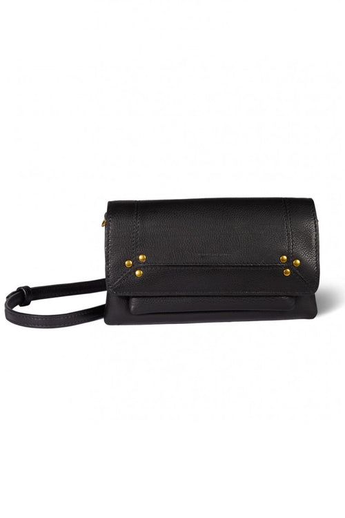 Charly Small Bag in Noir Brass Calfskin