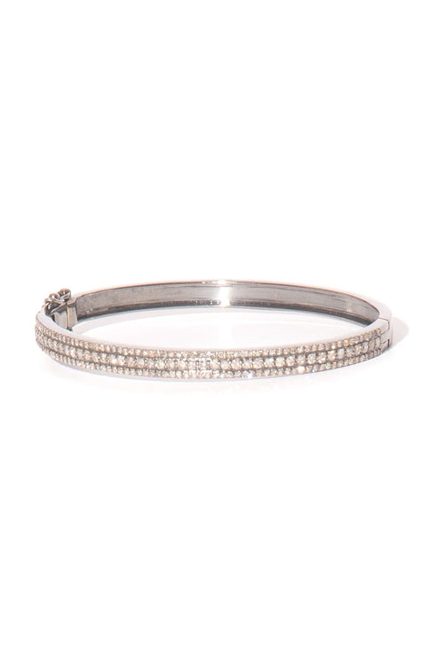 Three Row Pave Bangle