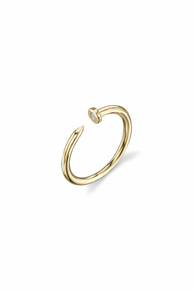 Nail Ring in Yellow Gold