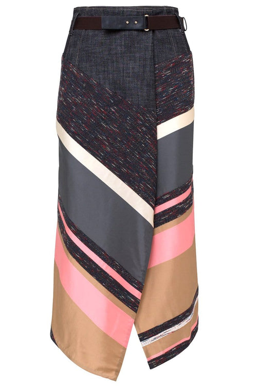 Energetic Lines Skirt in Caramel Colorful TS