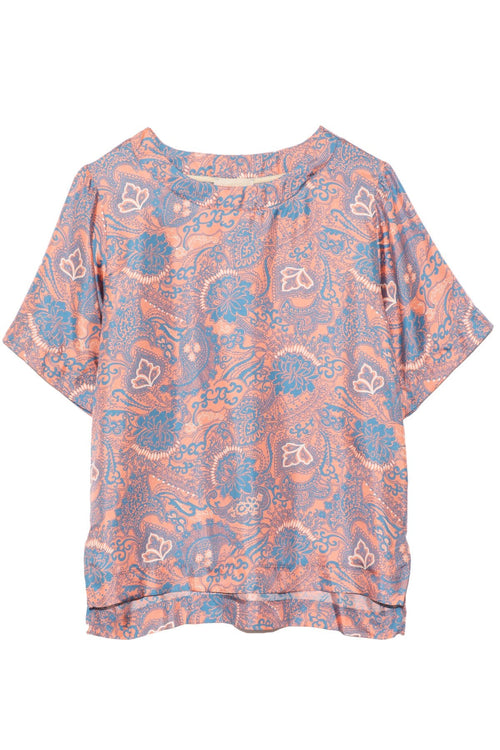 Roma Blouse in Pink/Blue