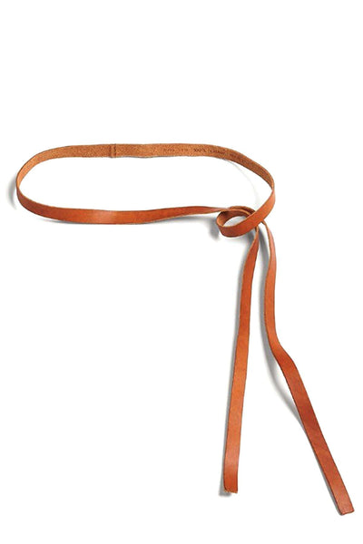 Leather Belt in Papaya