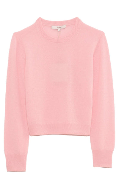 Featherweight Cashmere Shrunken Sweater in Blossom