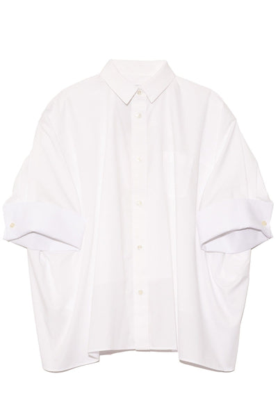 Cotton Poplin Shirt in White