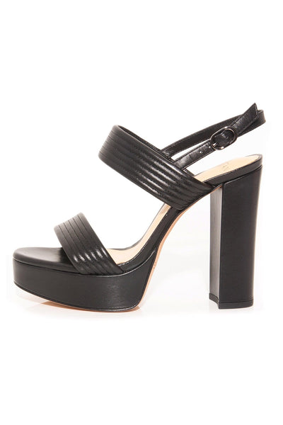 Veronica Platform Sandal in Black