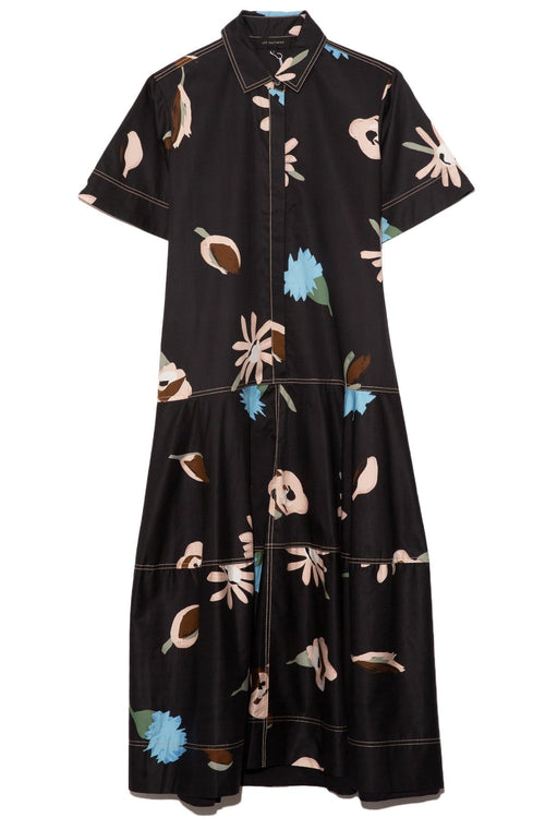 Bloomsbury Lantern Shirtdress in Black Floral