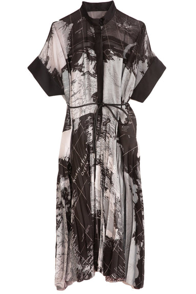 World Map Dress in Black