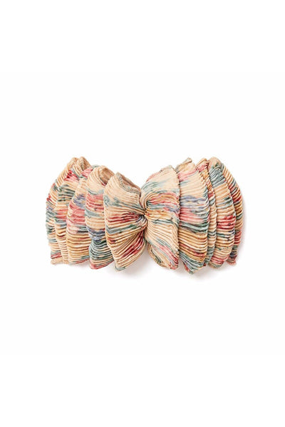 Tavi Ruffle Hair Clip in Butter Multi Floral