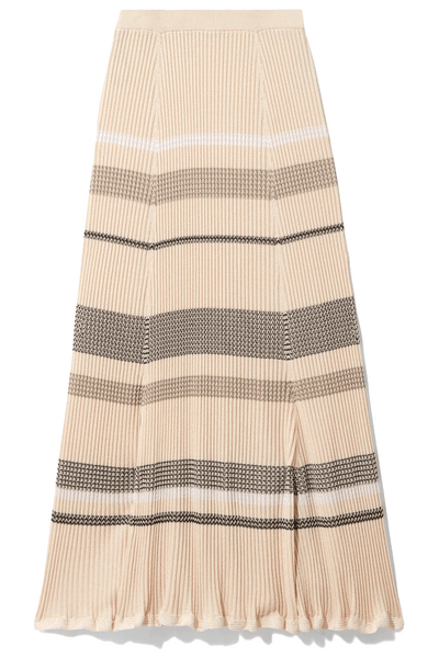 Viscose Zig Zag Skirt in Pale Blush Multi