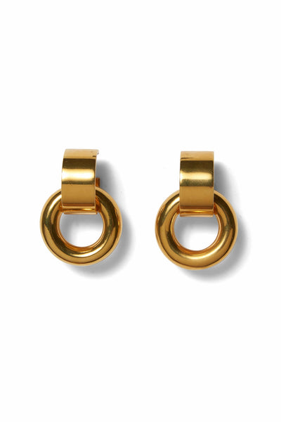 Piazza Earrings in Gold