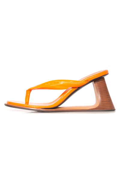 Wedge Thong Sandal in Nectarine