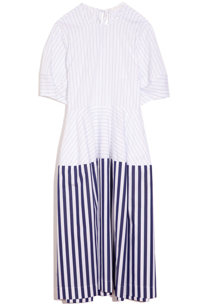 Lily Dress in Blue Stripe