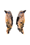 Bird Earrings in Toffee