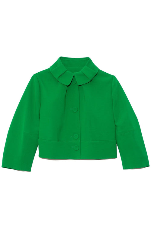Cropped Jacket in Green