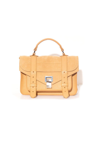 PS1 Tiny Lux Leather and Suede Bag in Camel