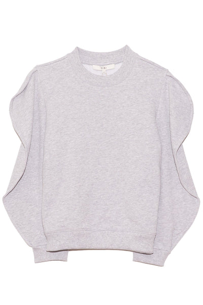 Scallop Sweatshirt in Heather Grey