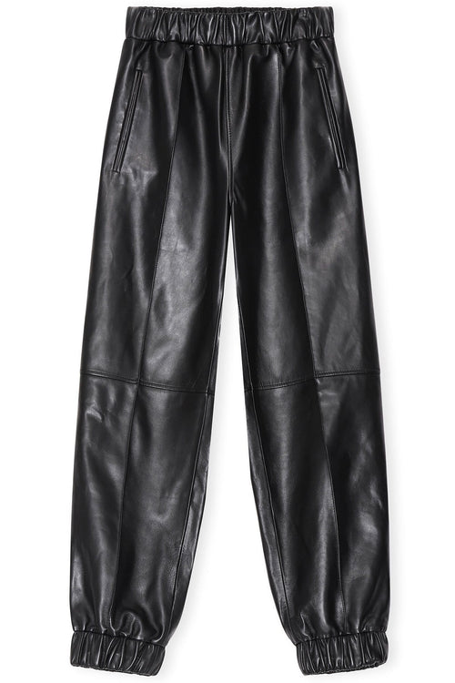 Lamb Leather Pants in Black