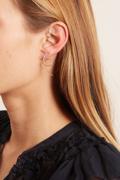 Galaxy Spin Earring in Yellow Gold (Left)