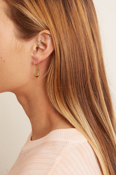 Chance Mini Earring in Gold
