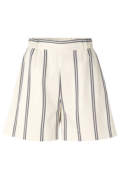 Luella Shorts in Warm White Stripe