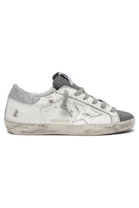 Superstar Sneaker in Dark Grey/White/Silver