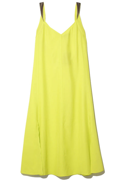 Colette Slip Dress in Lime Green