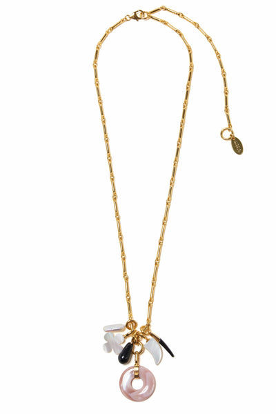 Gia Charm Necklace in Multi