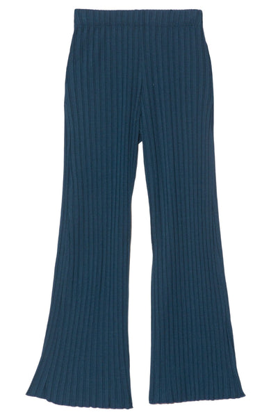 Alder Wide Crop Pant in True Teal