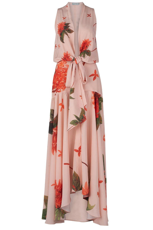 Ada Luz Dress in Coral Flower
