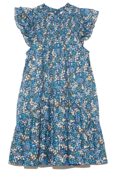 Lissa Liberty Smocked Dress in Blue