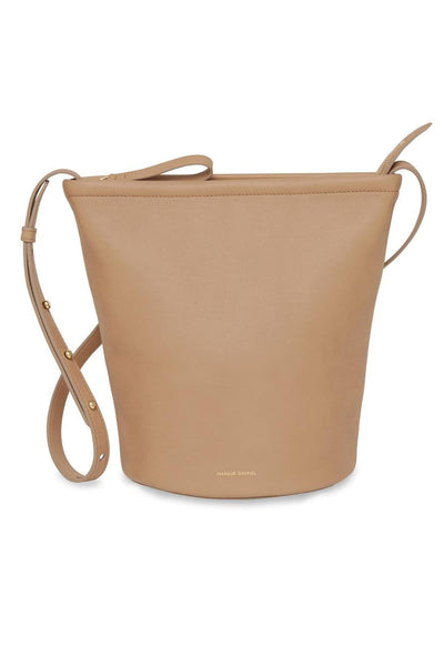 Zip Bucket Bag in Nocciola