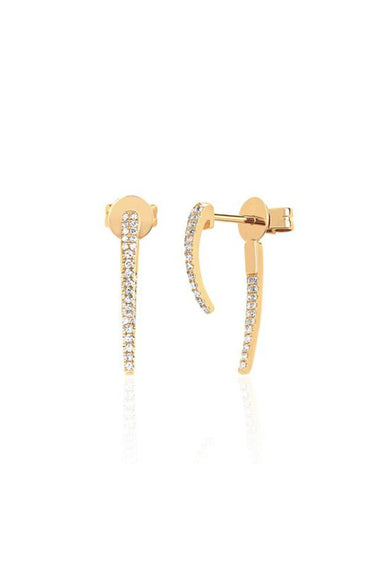 Diamond Hook Earring in Yellow Gold
