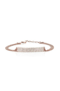 Diamond Jumbo Bar Multi Chain Bracelet in Rose Gold