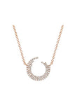 Diamond Willow Necklace in Rose Gold