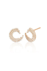 Diamond Willow Stud Earring in Rose Gold