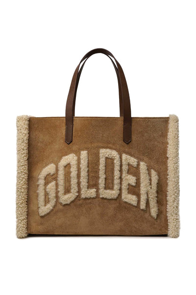 "California ""Golden"" Bag with Shearling in Suede"