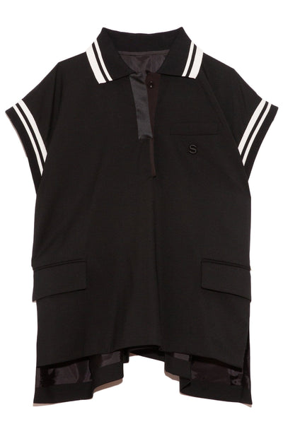 Suiting Polo Shirt in Black