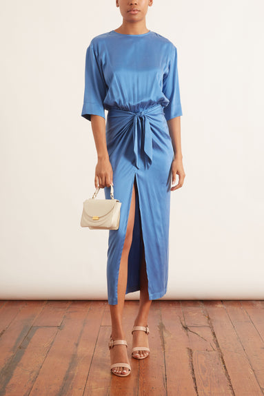 Tie The Knot Dress in Blue