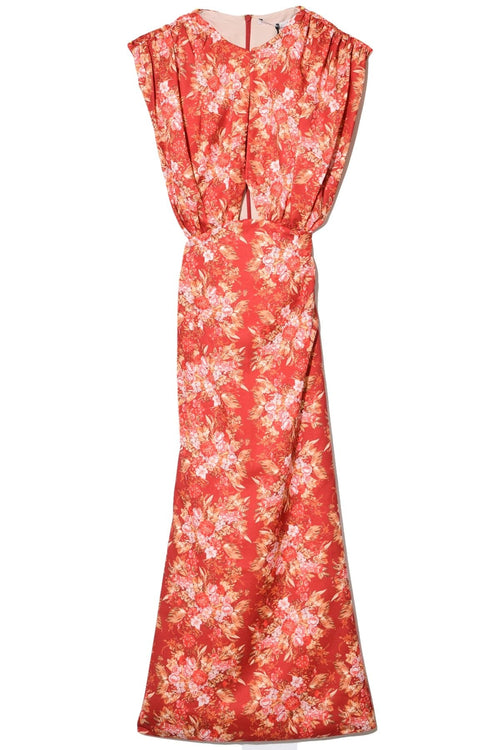Angy Dress in Sunset Floral Burgundy