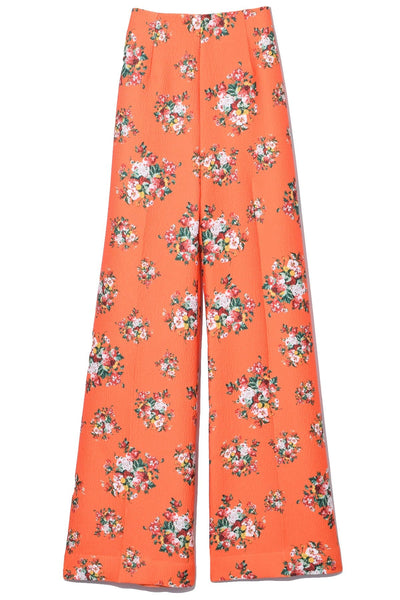 Hullinie Trouser in Orange Rose Tile