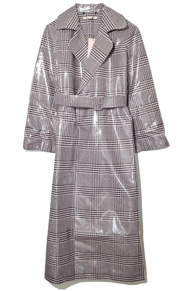 Jill Coat in Lacquered Check