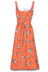 Shaina Dress in Orange Rose Tile