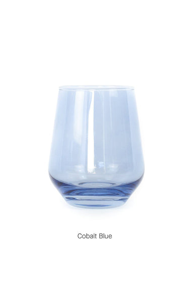 Colored Stemless Wine Glasses Single