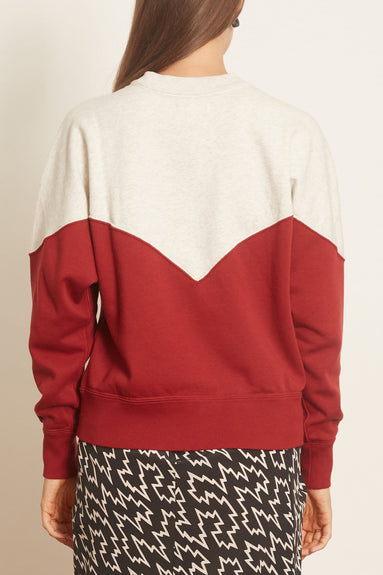 Houston Sweatshirt in Grenat