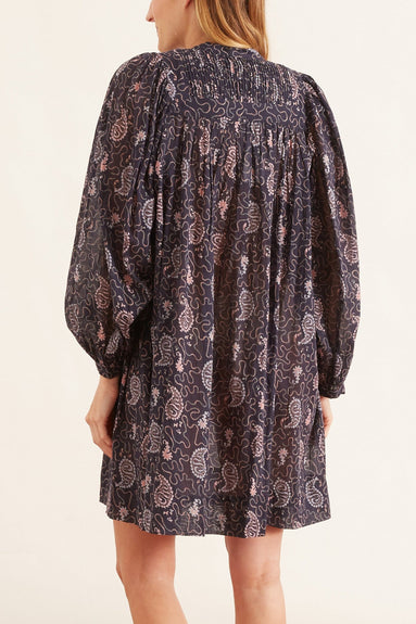 Virginie Printed Dress in Faded Night