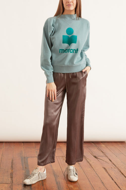 Moby Sweatshirt in Light Petrol