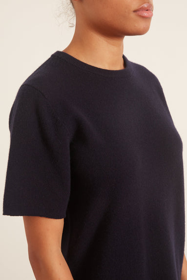 T-Shirt Sweater in Navy
