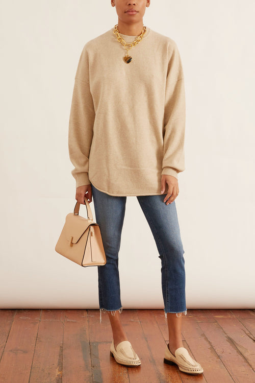Crew Hop Sweater in Latte