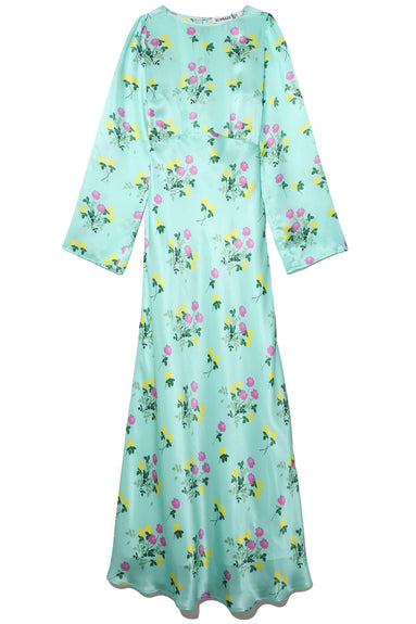 Jane Dress in Floral Turquoise